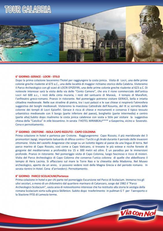 Tour In Bus Calabria 7 Notti Partenza 2 Luglio