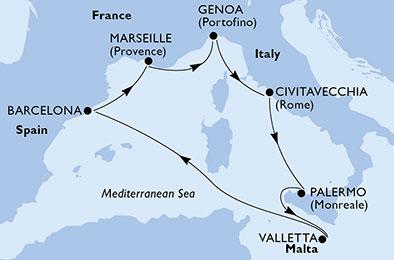 Capodanno sulla Crociera MSC Meraviglia 7 Notti Partenza 30 Dicembre Civitavecchia Cabina Esterna cat. Fantastica