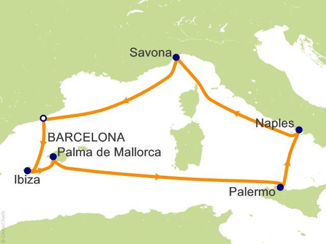 Costa Fascinosa Partenza 10 Giugno da Napoli 7 Notti Cabina Quadrupla