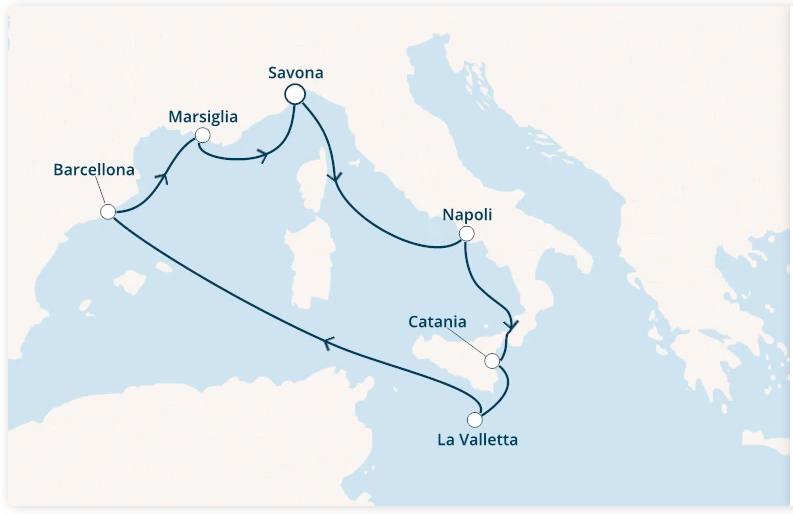 Costa Fascinosa Partenza 16 Aprile da Catania 7 Notti Cabina Doppia Esterna Classic