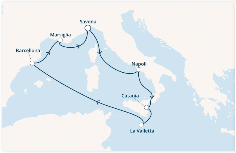 Costa Fascinosa Partenza 16 Aprile da Catania 7 Notti Cabina TPL con Balcone