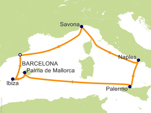 Costa Fascinosa Partenza 1 Luglio da Napoli 7 Notti Cabina Quadrupla