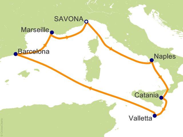 Costa Fascinosa Partenza 28 Ottobre da Napoli 6 Notti Cabina Tripla