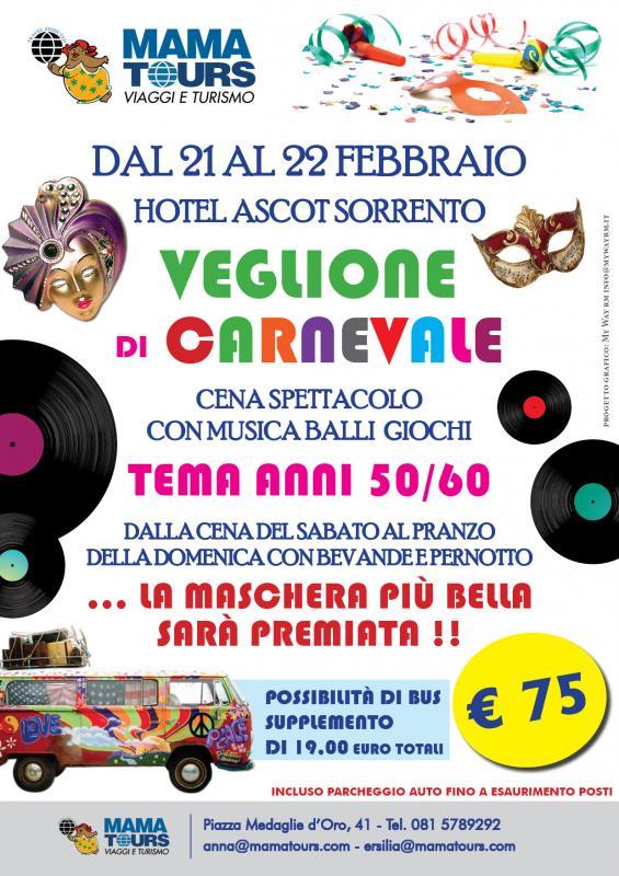 Carnevale Hotel Ascot Sorrento dal 21 al 22 Febbraio 75 euro - Sorrento